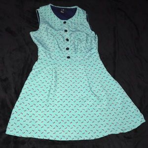 Vintage style turquoise dress forever 21 small